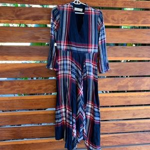 Plaid Anthropologie dress